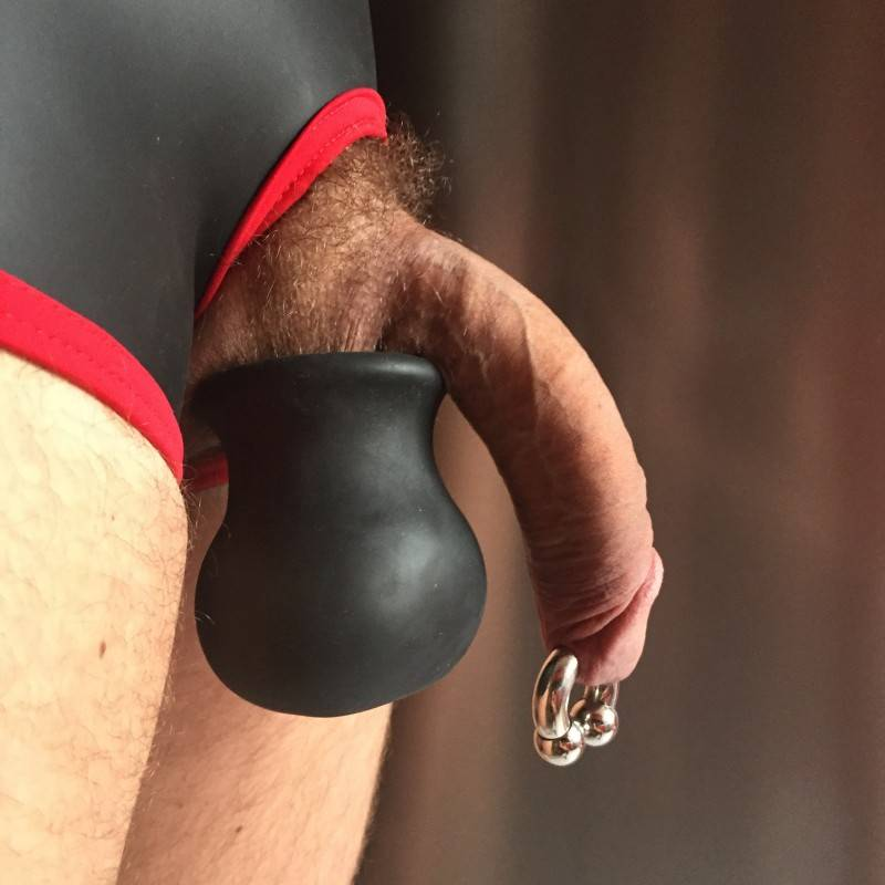 Silicone ballstretcher, Ballstretcher, Cock and balls, Soft ballstretcher